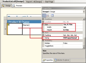 Reporting Services Image control settings